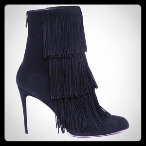 Paul Andrew Taos suede fringe ankle boots